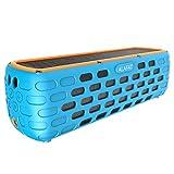 Bluetooth Lautsprecher Solar Außen Lautsprecher Dual-Treiber HD Stereo SoundBox Wirelss Tragbar...