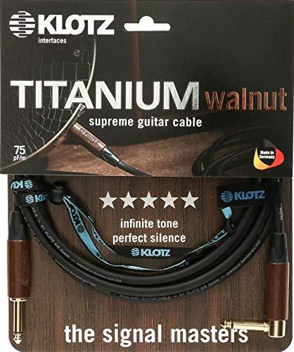 KLOTZ TITANIUM walnut - supreme gitarren kabel mit nussholz tüllen (3m)