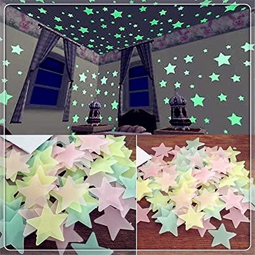 Auto Kinderzimmer Fluoreszierende leuchtende Sterne leuchtende Wandaufkleber für Kia Eco Pro-CEE-D Koup CEE-D Rondo Kue Kee Kv7 Pop VG