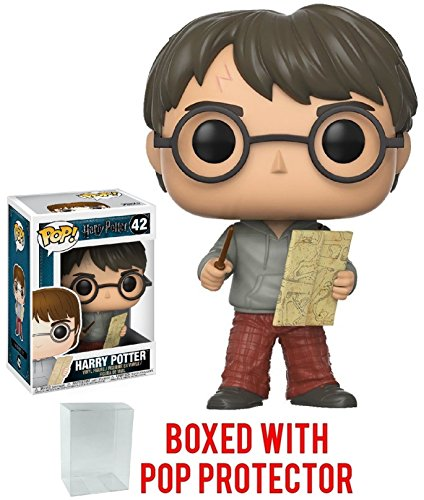 Funko Pop! Movies: Harry Potter - Harry Potter with Marauders Map Vinyl Figure (Bundled with Pop Box Protector Case) image