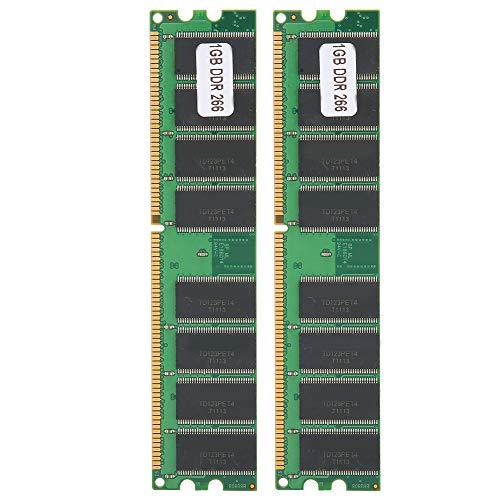 2Pcs 226MHZ Módulo de Memoria de 16 Granos Tarjeta Memory Stick Refrigeración Disipación de Calor rápida Computadora de Escritorio Tarjeta RAM Stick de Doble Cara para AMD DDR 1GB 226 PC ‑ 2100