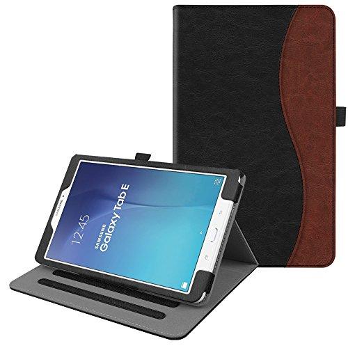 Fintie Hülle für Samsung Galaxy Tab E T560N / T561N (9,6 Zoll) Tablet-PC - Multi-Winkel Betrachtung Kunstleder Schutzhülle Etui mit Dokumentschlitze & Auto Schlaf/Wach Funktion, Doppelfarbig