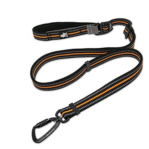 cocomall犬犬用リード1本で色々使える多機能リード調節できるリード伸縮リード小型、中型、大型犬用リード訓練リードロングリードペット用品ハーネス3M反射材料ナイロン製通気性調節可能メッシュペット(オレンジ)