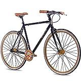 Chrisson FG Flat 1.0 2016 - Bicicleta fixie de 28pulgadas, sin marchas, color negro y dorado, tamaño 56 cm (Sw 11), tamaño de rueda 28.00 inches