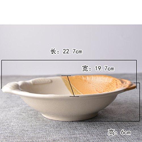 DXG&FX Vajilla Creativa Placas Placas Irregulares para Uso Doméstico Tazón De Fuente En Forma-G