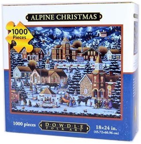 Dowdle Alpine Christmas 1000 Piece Puzzle by Dowdle Folk Art