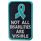 Not All Disabilities are Visible Vests/Harnesses Service Dog Emblem Embroidered Fastener Hook & Loop Patch