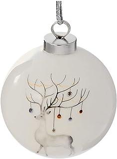 IH CASADECOR Ceramic Ball Ornament (Reindeer), Multi