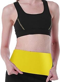 Women's Hot Sweat Slimming Neoprene Waist Trainer Body Shapers for Weight Loss Fat Burner Belt