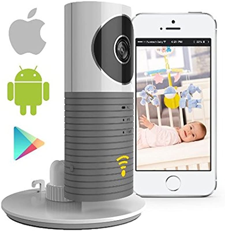 Video Baby Monitor Camera Compatible With IPhone And Android WiFi Enabled Nanny Cam 2 Way Talkback With Motion Activated Cell Alerts Ash Grey