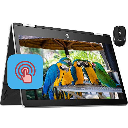 "2020 Latest HP Pavilion X360 11 2 in 1 Laptop 11.6"" HD IPS Touchscreen Intel Quad-Core Pentium Silver N5000 4GB DDR4 128GB SSD Card HP Audio Boost WiFi HDMI + iCarp Wireless Mouse"