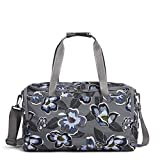 Vera Bradley Women's Recycled Lighten Up Reactive Small Gym Bag Travel, Blooms Shower, One Size