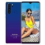 Blackview® A80 Plus[2021],Teléfono Móvil Libres 4G,6.49' HD+ Water-Drop Screen,Helio P25 Octa-Core 4GB+64GB Smartphone,13MP Cuádruple Cámara,4680 mAh,Android 10, Dual SIM,NFC,Face ID,Huella Dactilar