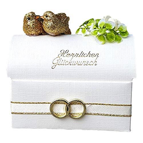 Der-kleine-Dekoladen Geschenkverpackung zur goldenen Hochzeit Geldgeschenk Truhe
