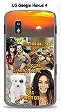 Coque personnalisee LG Google Nexus 4 - avec VOS photos.