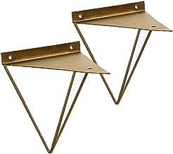 2 stuks plankhouders driehoek metalen plankhouders drijvend aan de muur bevestigde plankondersteuning decoratieve houders ...