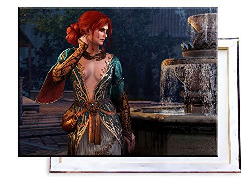 Unified Distribution Witcher - Triss Merigold - 80x60 cm Kunstdruck auf Leinwand • erstklassige Druckqualität • Dekoration • Wandbild