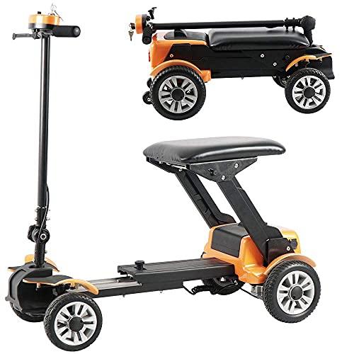 Scooter de Movilidad de 3 Ruedas, patinetes de Viaje eléctricos portátiles y Plegables con Control Remoto para Ancianos, Adultos discapacitados