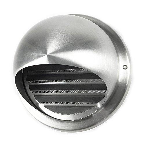 EASYTEC® Mauerkasten Ø 150 mm/Blende aus Edelstahl für Dunstabzugshauben und Lüftungsanlagen/Außenjalousie/Rohrblende/Abdeckung/Außenhaube/Außengitter