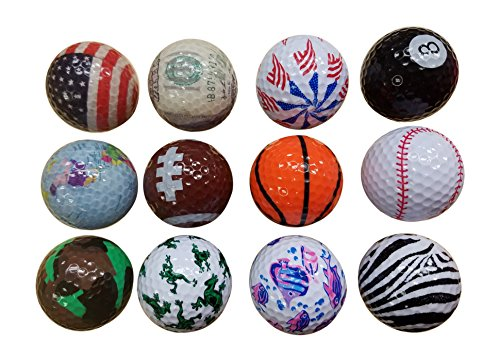 BZANY Fun Crazy Golf Balls (1 Dozen)