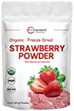 Organic Strawberry Freeze Dried Powder, 10 Ounce, Rich in Immune Vitamin and Antioxidants to Support Immune System, Best Super Foods for Smoothie & Beverage Blend, Non-GMO and Vegan Friendly
