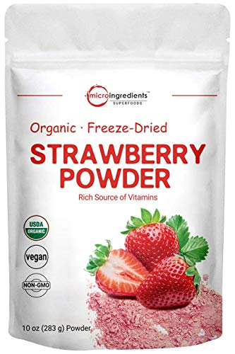 Organic Strawberry Freeze Dried Powder, 8 Ounce