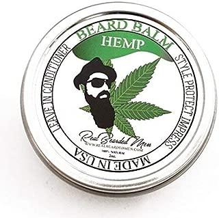 REAL BEARDED MEN 100% Natural Premium Beard Balm 2 oz - Hemp - Made in USA