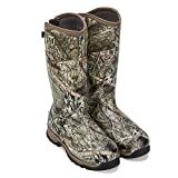 TIDEWE Rubber Hunting Boots with 800g Insulation, Waterproof Insulated Mossy Oak Country Camo Warm Rubber Boots with 6mm Neoprene, Durable Outdoor Muck Hunting Boots for Men (Size 11)