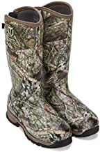 TIDEWE Rubber Hunting Boots with 800g Insulation, Waterproof Insulated Mossy Oak Country Camo Warm Rubber Boots with 6mm Neoprene, Durable Outdoor Muck Hunting Boots for Men (Size 14)