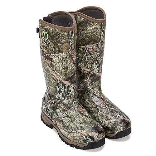 TIDEWE Rubber Hunting Boots with 800g Insulation, Waterproof Insulated Mossy Oak Country Camo Warm...