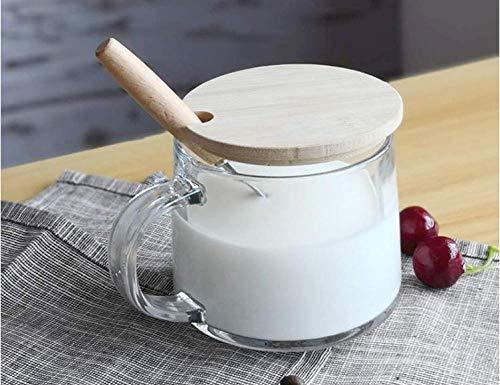 Becher Frühstück Tasse Löffel Milch Tasse Saft Tasse Glas Haferflocken Tasse Haushalt Kaffeetasse 390ml