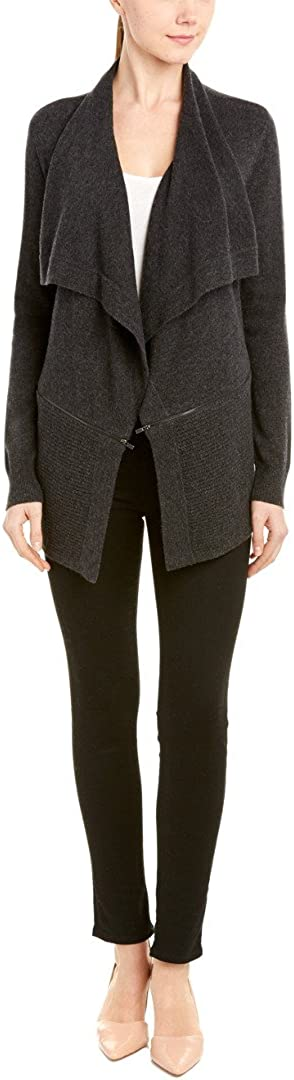 Magaschoni Women's Draped Cardigan with Zippers