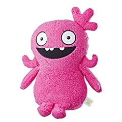 30+ sounds and phrases: Ugly dolls Moxy talking plush toy has more than 30 movie-inspired phrases and sound effects. Press her belly: give her belly a squeeze to get the party started, Ugly dolls-style! Stuffed toy with a style all her own: inspired ...