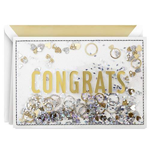 Hallmark Signature Congratulations Engagement Card, Bridal Shower Card, Wedding Card (Congrats Confetti)