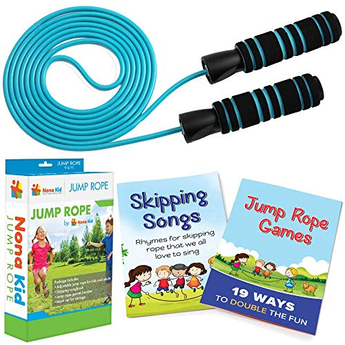 Adjustable Jump Rope - for Kids and Adults - Easily...