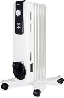 Orbegozo RH 1000 Radiador de Aceite, 1000W de Potencia, 5 Elementos y diseño en Color Blanco, s