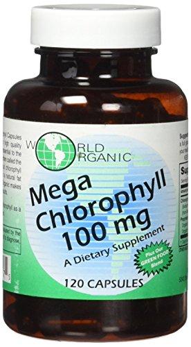 World Organics 100 mg Mega Chlorophyll, 120 Count