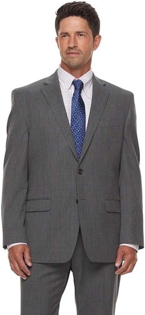 Chaps Men's Classic-Fit Wool-Blend Performance Stretch Suit Jacket Grey