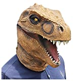 ZWRY Máscara Halloween Máscara de dinosaurio de Jurassic World, casco de tiranosaurio de dibujos animados, máscara de animal de látex de Halloween como se muestra-1