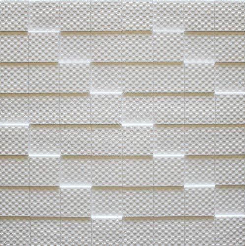 Azulejos de techo de poliestireno Manhattan ( paquete de 56 pc / 14 metros cuadrados ) Blanco