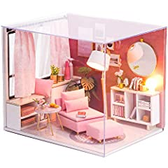 DIY dollhouse includes all the furniture displayed in the picture. This product not finished, you should assemble it. It's suitable for the people over 14 years old. English Instructions: There have detailed English color instructions will guide you ...