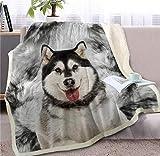 NIHENKU Mantas para Cama Bulldog Francés Sherpa Manta Cama 3D Perro Animal Piel Manta Manta Adulto Marrón Gris Ropa De Cama A_150 * 200 Cm