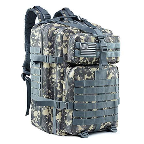 DZX 50L Mochilas tácticas Militares de Gran Capacidad para Hombre Bolsas de Asalto Militar Paquete 3P al Aire Libre para Trekking Camping Bolsa de Caza (Color: Azul), Mochila Deportiva al Aire Libre
