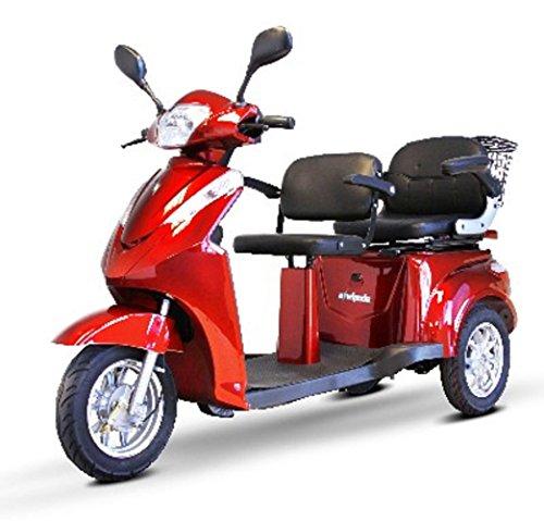 2-Passenger Senior Scooter in Red