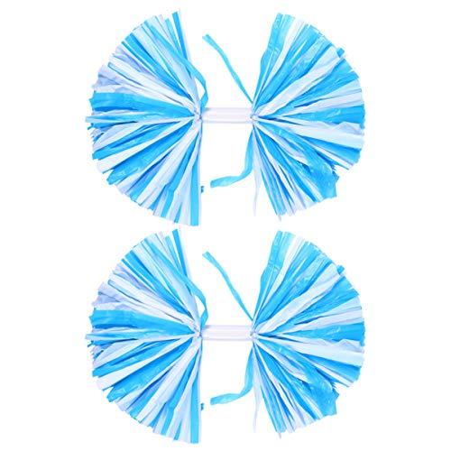 CLISPEED Pom Pom Pom Pom Pom Pom Pom Pom Feuille Métallique Et Anneau en Plastique Pom Pom Pom Pom Girl pour Équipe Sportive Esprit Applaudissement Fête Et Danse