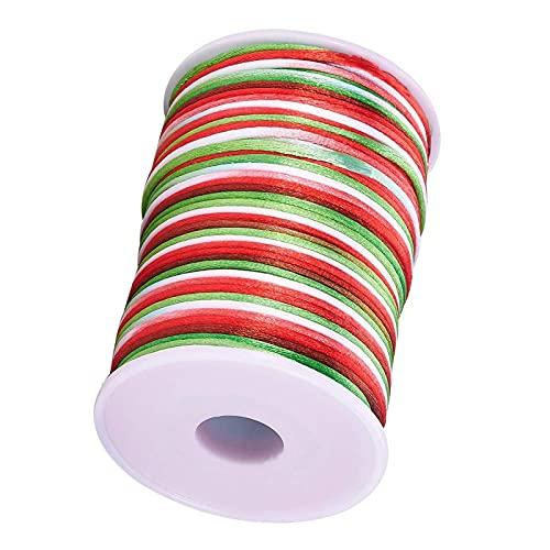 PINGDONGHANG 1pc 109 yardas 15mm Rattail satén Trim Cord Chino nudo rebordear cordón rojo blanco verde Rattail cuerda de seda cuerda
