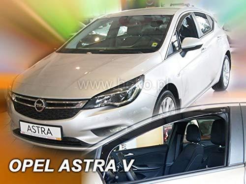 J&J AUTOMOTIVE J&J - Deflectores de Viento para Opel Astra V K 5 Puertas 2015-prés 2 Piezas