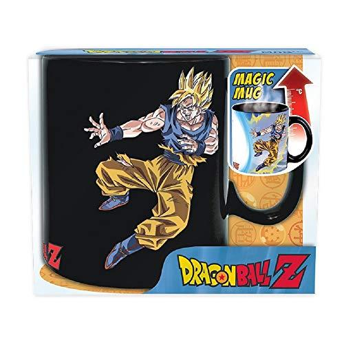 Dragonball Taza de cerámica con efecto térmico (460 ml), diseño de Son Goku Vs Boo