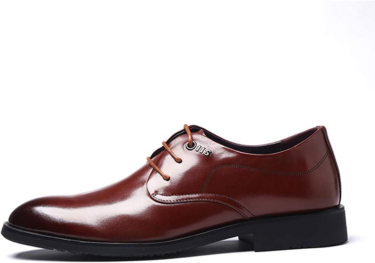 LXLA- Mens Business Formal Leather shoes, Wedding Comfortable Derby shoes Lace Up Dress Loafers for Men