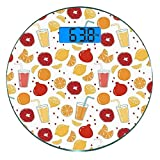 Escala digital de peso corporal de precisión Ronda Moderno Báscula de baño de...